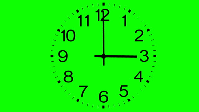 clock face time lapse on chroma key green background - clock bildbanksvideor och videomaterial från bakom kulisserna