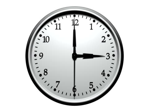 Clock Faster (white) Loop video