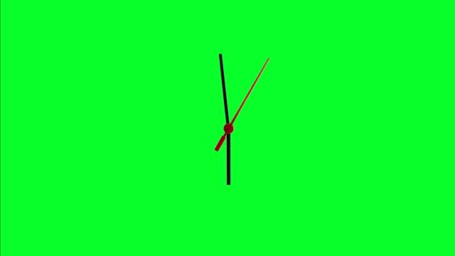Clock Green Screen Time Lapse video