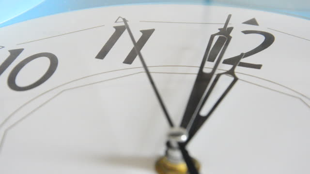 Clock Hands Extreme Close Up HD video