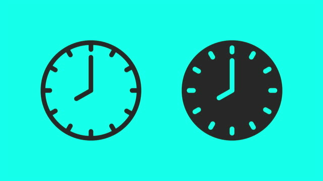 Clock Icons - Vector Animate Clock Icons Vector Animate 4K on Green Screen. clock stock videos & royalty-free footage