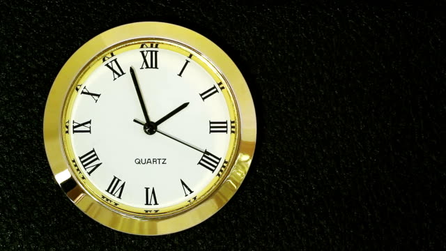 TIME-LAPSE: Clock in golden case video