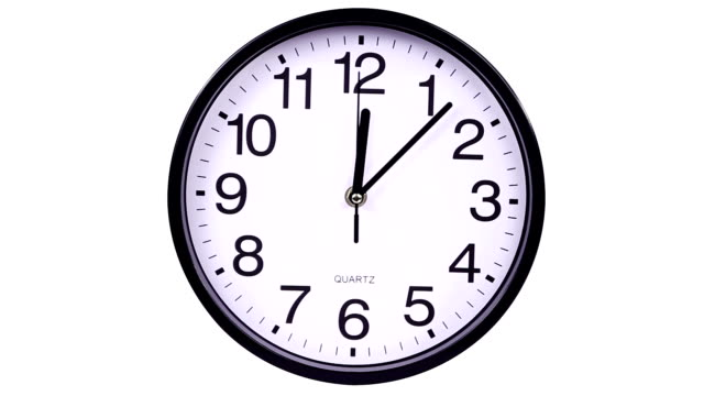 vidéos et rushes de réveil sur un blanc 00,00 timelapse - cadran