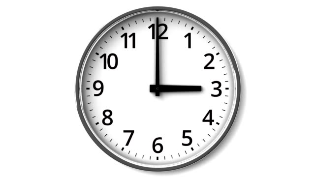 Clock On White Wall Loop able 3DCG render Animation. wall clock stock videos & royalty-free footage