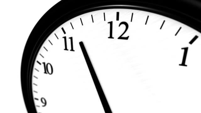 Clock reaching noon 2 video