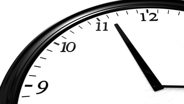 Clock reaching noon video