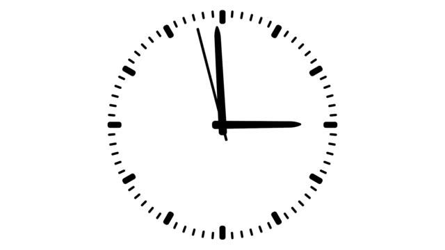 часы, бесшовные петля - время дня стоковые видео и кадры b-roll