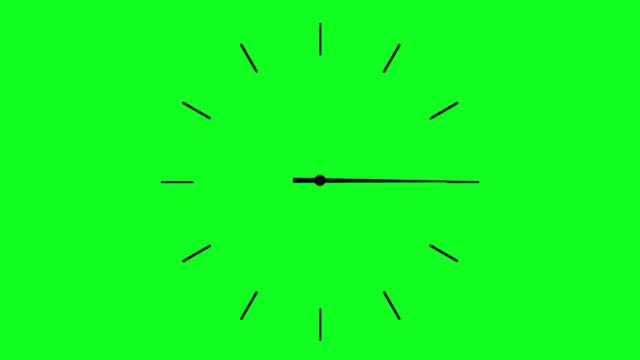 vidéos et rushes de 4k horloge spinning, animation montre sur fond vert - cadran