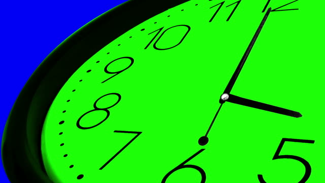3D Clock Ticking Fast Time GREEN AND BLUE KEY CHROME video
