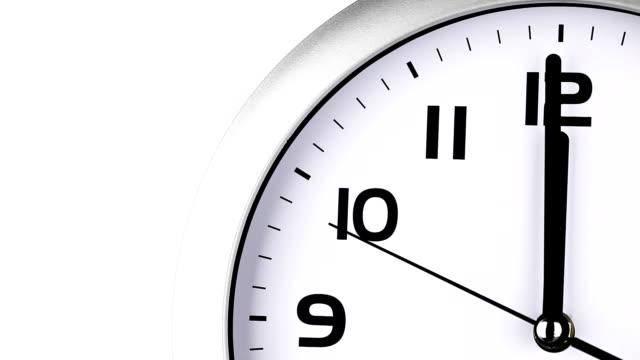 Clock ticking to twelve O'clock last 15 seconds video