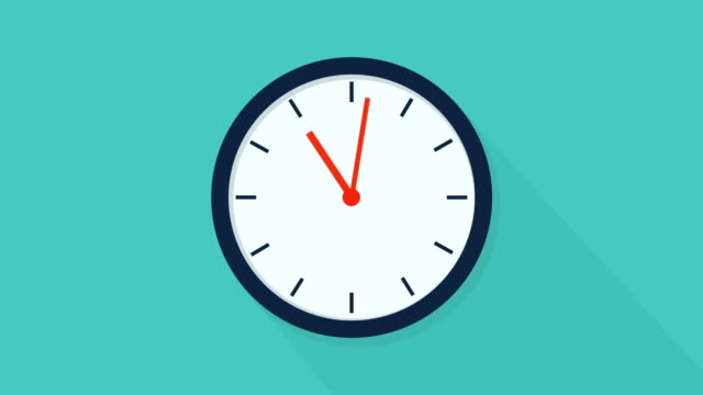 Clock Time Lapse , Blue backgrounds. Cartoon Stop Motion Animation Animation. Clock Time Lapse , Blue backgrounds. Cartoon Animation. wall clock stock videos & royalty-free footage