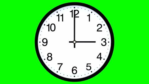 klocka time lapse - grön skärm (loopable) - dag bildbanksvideor och videomaterial från bakom kulisserna