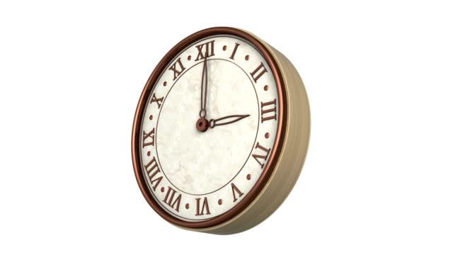 Laps de temps d'horloge avec luma matte bouclables - Vidéo