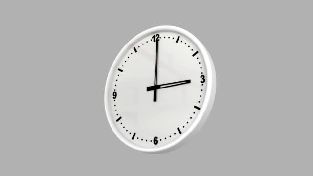 Laps de temps d'horloge avec luma matte - Vidéo