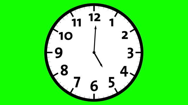 Clock Timelapse Green screen video