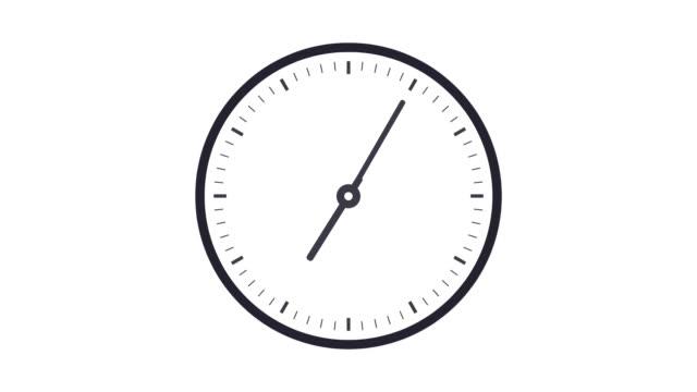 Clock timelapse looping 12 hours