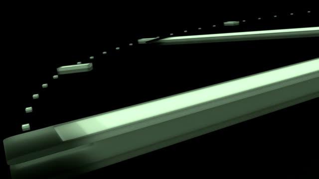 uhr. zeitraffer (=zeitraffer der zeit. 3 d render. isolieren. nahtlose schleife - vier jahreszeiten stock-videos und b-roll-filmmaterial