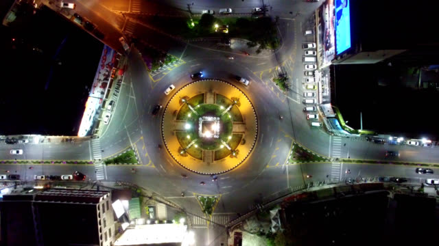 Clock tower circle - video