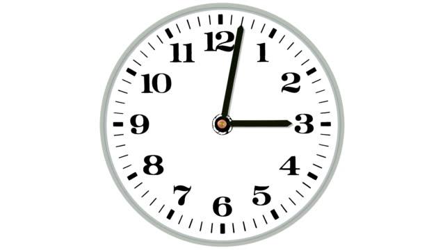 orologio - movimento rapido video stock e b–roll