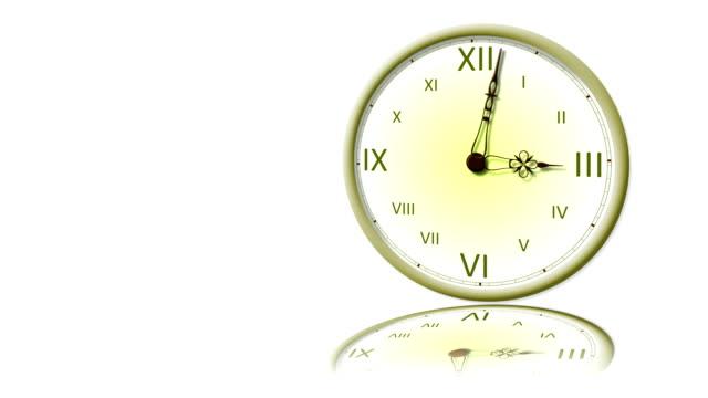 clock - ancient white background bildbanksvideor och videomaterial från bakom kulisserna