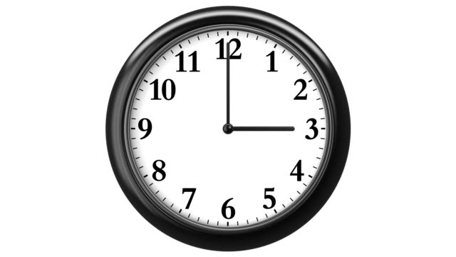 Clock with Arabic Numerals. 720 frames (frame for each minute). HD 1080. Loop. Isolated on White. video
