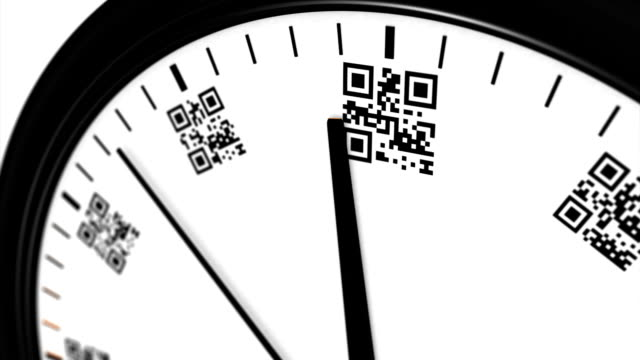 Clock with qr code numbers no.2 video