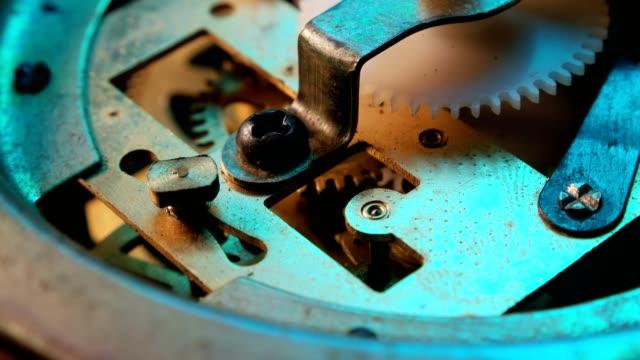 clockmechanism works - rusty stock videos & royalty-free footage