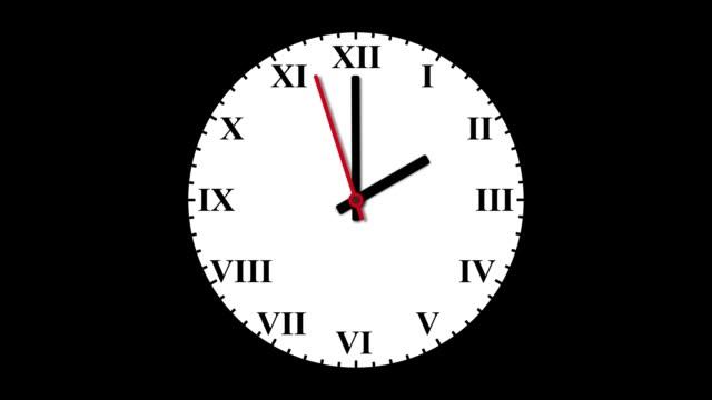 orologi indietro stasera - dorsale video stock e b–roll
