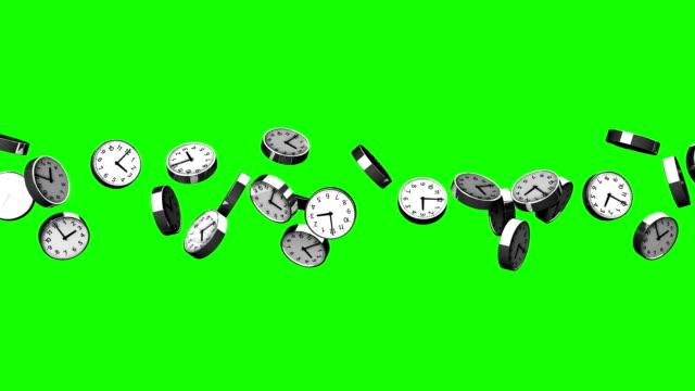 Klokken van groene Chromakey video