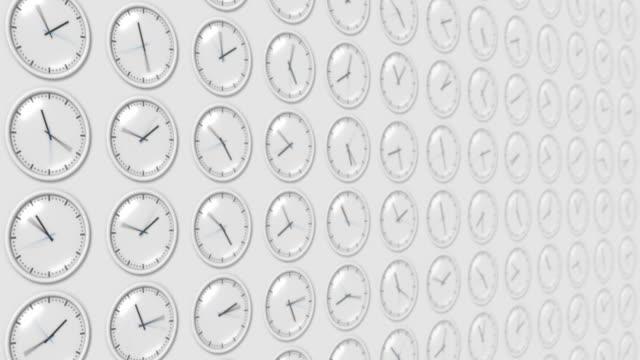 Clocks (loopable) video