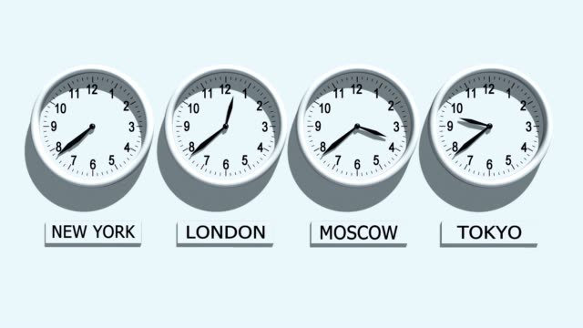 Clocks Timezone clocks showing different time time zone stock videos & royalty-free footage