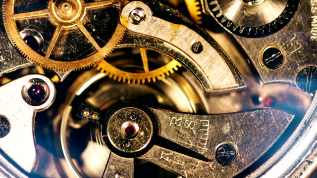 Clockwork Gears Working 4K Video instrument of time stock videos & royalty-free footage