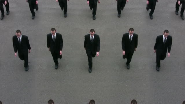 cloned businessmen - business suit stock videos & royalty-free footage