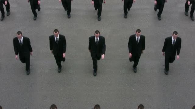 vidéos et rushes de cloné d'affaires - costume habillé
