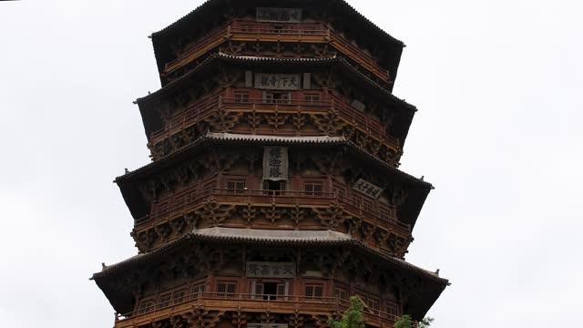 インシアの木塔の様子を詳しく見る - 仏塔点の映像素材/bロール