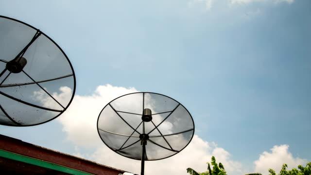 vidéos et rushes de près de l'antenne parabolique. - vaisselle picto
