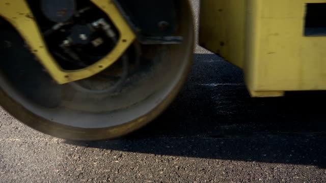 Close Up Asphalt Roller