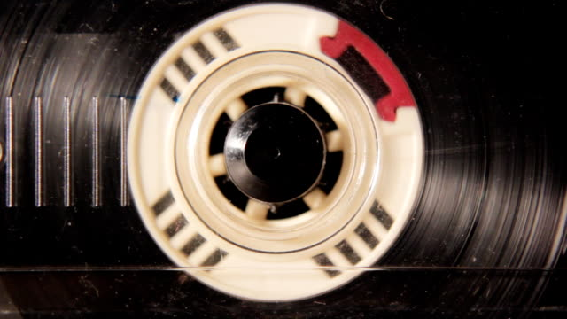 close up audio cassette spool, HD 1080p video