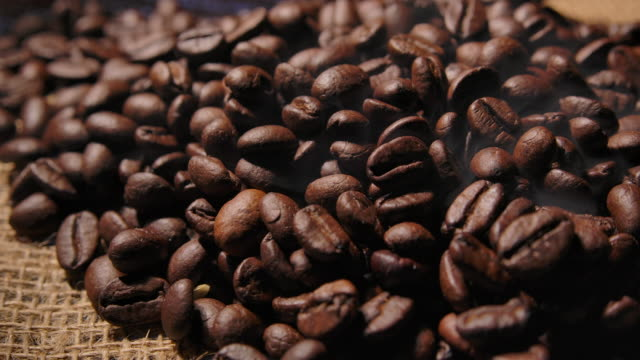 Close up Dark Arabica Coffee Beans