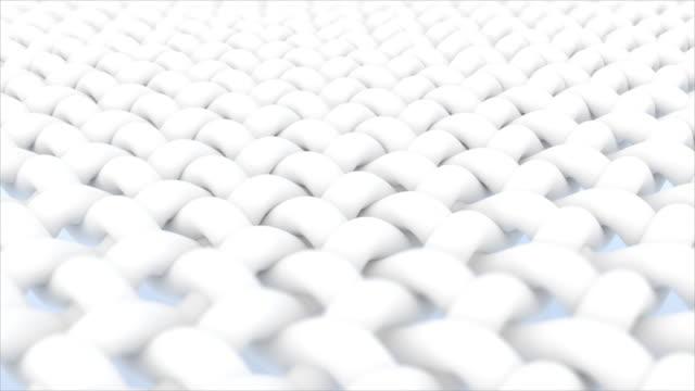 vidéos et rushes de fermez-vous vers le haut de la fibre de tissu - fibre