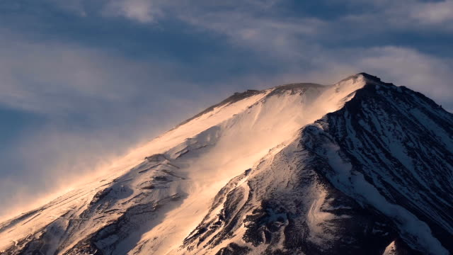 富士山ピーク間近します。 - 冬点の映像素材/bロール