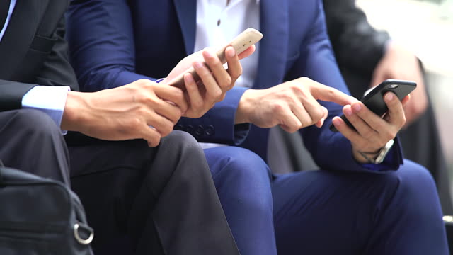 Close up hand of businesswoman using smartphone.Business concept. video