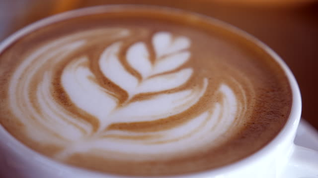 Close Up Latte Art Coffee