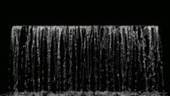 istock Close up Liquid Waterfall front view on black background. 3D animation with alpha channel. 4K. 1218166027