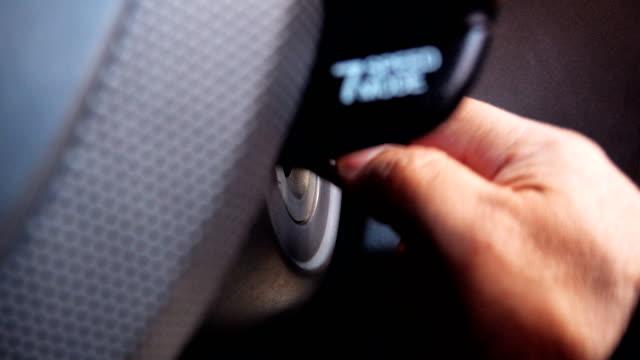 4k: close up man inserting key into car to start. - key ring stock videos & royalty-free footage