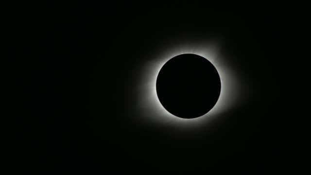 Close up of 2017 Total Solar Eclipse Totality video