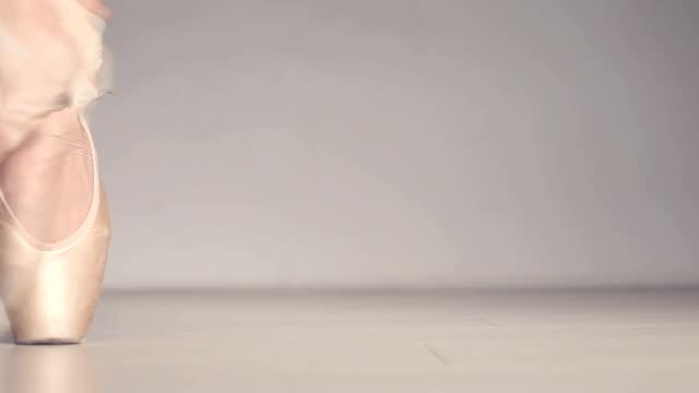 Close up of a ballet dancer's feet video