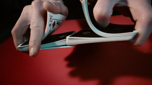 Close up of a card trick Close up of a card trick. Source: Sony RAW ProRes playing card stock videos & royalty-free footage