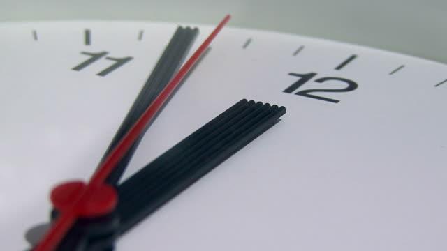 Close up of a clock ticking video