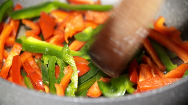 Close up of a delicious colorful vegetables